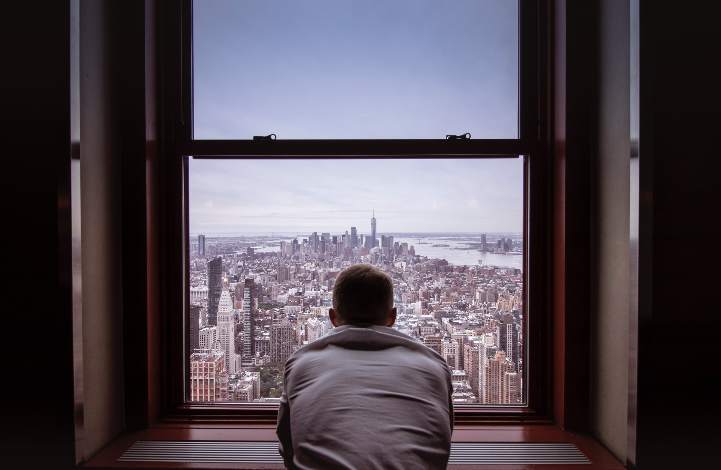 man window new york isolation